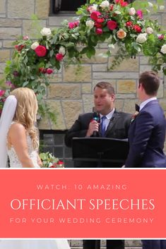 10 Amazing Officiant Speeches That Will Seriously Inspire You Wedding Ceremony Script, Wedding Bells, Simple Weddings, Real Weddings, Plan Your Wedding, Wedding Planning, Wedding Officiant, Marry You, Wedding Videos