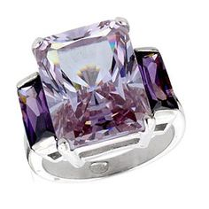 Rock Candy Lavender 3-Stone Ring