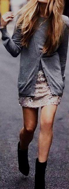 Falda lentajuelas