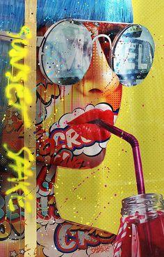 Viernes de compartir 😋 ven a The Comic's City Luis Cordero y disfruta de nuev. Pop Art Drawing, Art Drawings, Tableau Pop Art, Pop Art Girl, Art Pop, Pop Art Wallpaper, Pop Art Illustration, Art Portfolio, Funny Art