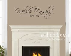 Family name wall decal  Family Name Monogram by WallapaloozaDecals