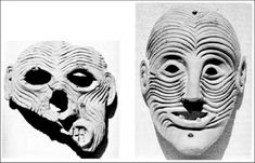 Orthian masks (from Carter 1987, 90 fig. 3-4).