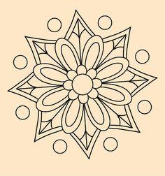 Mandala Stencils, Mandala Painting, Dot Painting, Mandala Pattern, Mosaic Patterns, Embroidery Patterns, Mandala Coloring Pages, Coloring Book Pages, Mandalas For Kids