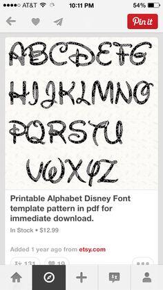 Printable alphabet letter stencil walt disney alphabet template in typography maxwellsz