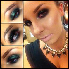 Green Eyeshadow   Smokey Eye Makeup  Makeup Ideas