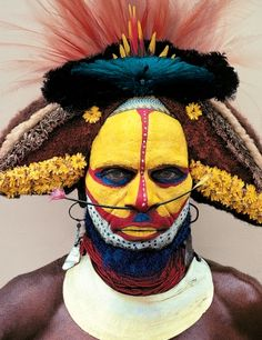 Man As Art - Malcolm Kirk: Photographs  Huli tribesman, Henganda village, Southern Highlands