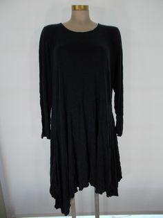 Chalet - Crinkle Ink Asymmetrical Ceci Dress