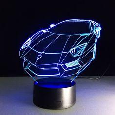Lamborghini 3D Optical Illusion Lamp