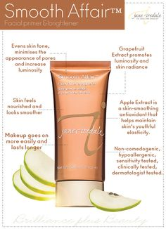jane iredale Smooth Affair Facial Primer & Brightener. Learn more about makeup tips at Tips and Sips Aug 9th 4-7pm @lehisalon  Reserve your spot today and save www.letemhaveitsalon.com/events  #makeup @janeiredale #tipsandsips @tinagill @worthwhilestyle