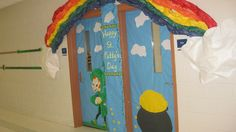 St. Patrick's Day door decorations for double doors or side by side classrooms.