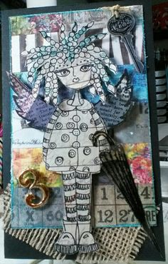 another mixed media using Dyan Reaveley