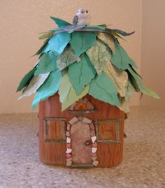 Terry Ricioli Designs: Etched Fairy House Lamp