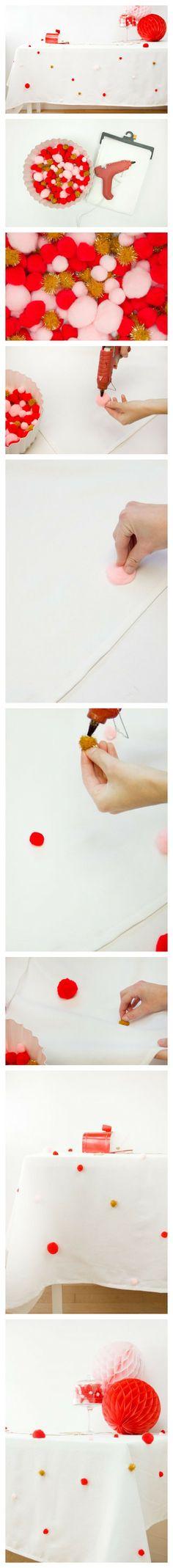 Gotta love a good glue gun + pom pom project!