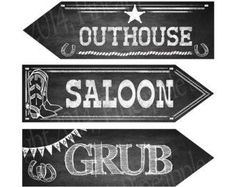 free printable cowboy signs and sayings - Google Search
