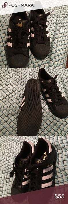 Super star adidas Great condition only worn once or twice brought the wrong size there to big. Adidas Shoes Sneakers