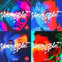 Pre-order our new album YOUNGBLOOD from Target with 2 exclusive tracks, 4 different covers + poster! 5 Seconds of Summer, April 2018 5sos Album Cover, Album Covers, Michael Clifford, Calum Hood, Luke Hemmings, 5 Seconds Of Summer, Youngblood 5sos, 5sos Art, 5sos Wallpaper
