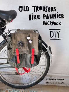 DIY: Sew a Bike Pannier Backpack from Old Jeans by Misako Mimoko