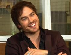 I like Ian Somerhalder's smile! :)