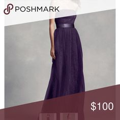 Vera Wang Plum Dress This is brand New with tags. Size 10. I bought it a while back, for a wedding I'm in this month and ended up pregnant and now I don't fit it ☹️ I paid $229+tax it's gorgeous!! Asking $100. Vera Wang Dresses Maxi