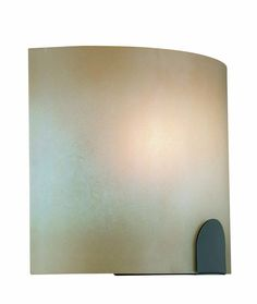 $60 - View the Lite Source LS-16879 1 Light Wall Sconce Light Amber Glass Shade from the Kennita Collection at LightingDirect.com.