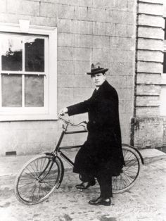 Michael Collins with His Famous Bicycle by Irish Photographer Transportation Photographic Print - 46 x 61 cm Michael Collins, Irish Restaurants, Images Of Ireland, Castles In Ireland, Irish Traditions, Historical Images, Vintage London, Cool Posters, Vintage Posters