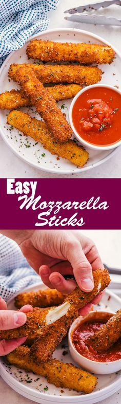 Easy Mozzarella Sticks