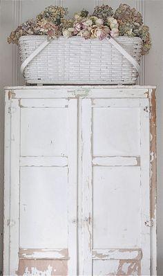 Vintage  Armoire -white.