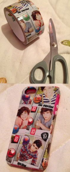 One Direction case from duck tape ✌If i get an I-phone I am definetly going to do this.