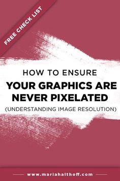 How to Ensure Your Graphics are NEVER Pixelated (Understanding Image Resolution) — Mariah Althoff, Visual Branding Expert + Graphic Designer Graphisches Design, Graphic Design Tutorials, Cover Design, Book Design, Creative Design, Design Ideas, Design Inspiration, Illustrator Tutorials, Adobe Illustrator