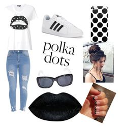 """""""polka dots"""" by baillie-braden on Polyvore featuring Markus Lupfer, adidas and Yves Saint Laurent"""