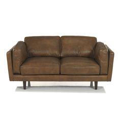 1db54ea568d Canapé en cuir vachette 2 places Camel - Brooklyn salon - Les canapés cuir  - Canapés