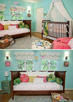 "I need this bed for the baby/ grandparents guest room! Boho Chic Room Designs | Transition from baby to child with ""boho"" style. It is a great way ..."