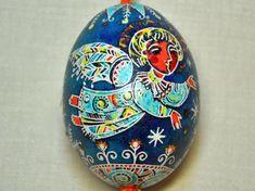 Pysanka - Ukrainian easter egg - Angel. $25.00, via Etsy.