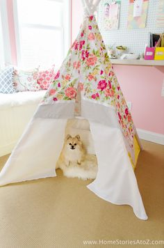 Learn how to create a DIY Teepee No Sew with this step-by-step tutorial. Easy and inexpensive with a total cost of around $30-$40.