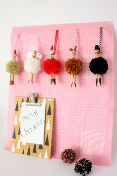 The cutest little Pom Pom People to hang on you're Christmas Tree!