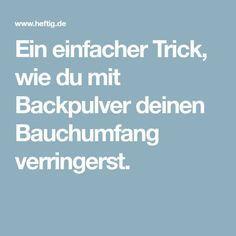 Ein einfacher Trick, wie du mit Backpulver deinen Bauchumfang verringerst.