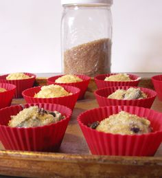 Recipe: Make-Ahead Blueberry Muffins Batter--use individual silicone muffin cups & bake just as many as you need at one time.