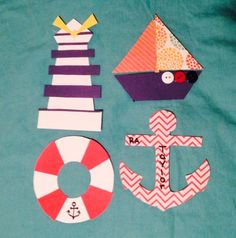 My 4 types of door decs. Made 50 in total. I love this nautical theme for the new semester   #doordecs #nautical #ralife #raideas #college