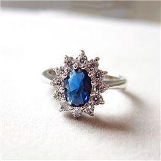 Fashion Vintage BlueGem Lady's Ring