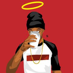 art, rip and trill image on We Heart It Arte Do Hip Hop, Hip Hop Art, Dope Cartoon Art, Dope Cartoons, Arte Dope, Dope Art, Handy Wallpaper, Iphone Wallpaper, Trill Art