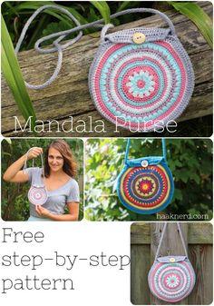 Mandala Purse | Haaknerd. A free picture tutorial. Crochet pattern.