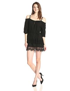 a8b62571293d Gypsy 05 Women s Off The Shoulder Dress with Lace Hem