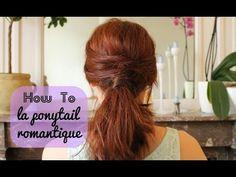 Tuto coiffure pour cheveux longs : la ponytail ou queue-de-cheval romantique