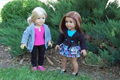 Sewing for American Girl Dolls. See the free patterns list on the right