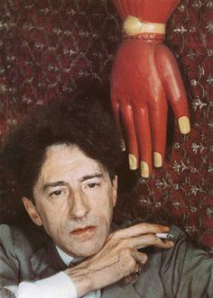 color photograph by Gisèle Freund of Jean Cocteau