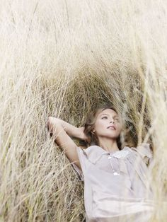 I do this. A lot. I just don't look this good doing this. But I love laying in the tall grass and just listening.