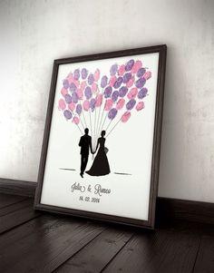 Brautpaar Luftballon Bild