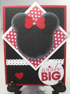 Minnie Mouse card - super cute!