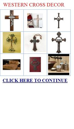 Western Cross Decor