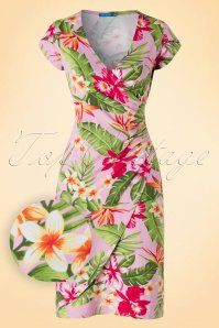1King Louie Buenos Aires Pink Tropical Dress 106 29 16438 20160216 0004W